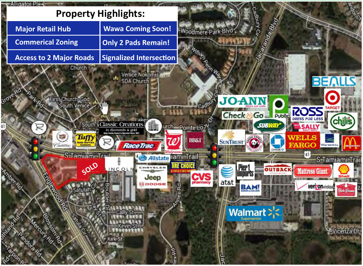 Belleair Development Group US Englewood Pad Next To Wawa - Us 41 florida map